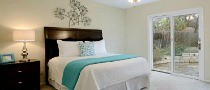 Bedroom staged by Austin Home Stager