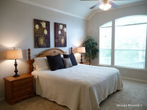 Bedroom Oasis created by Austin Home stager