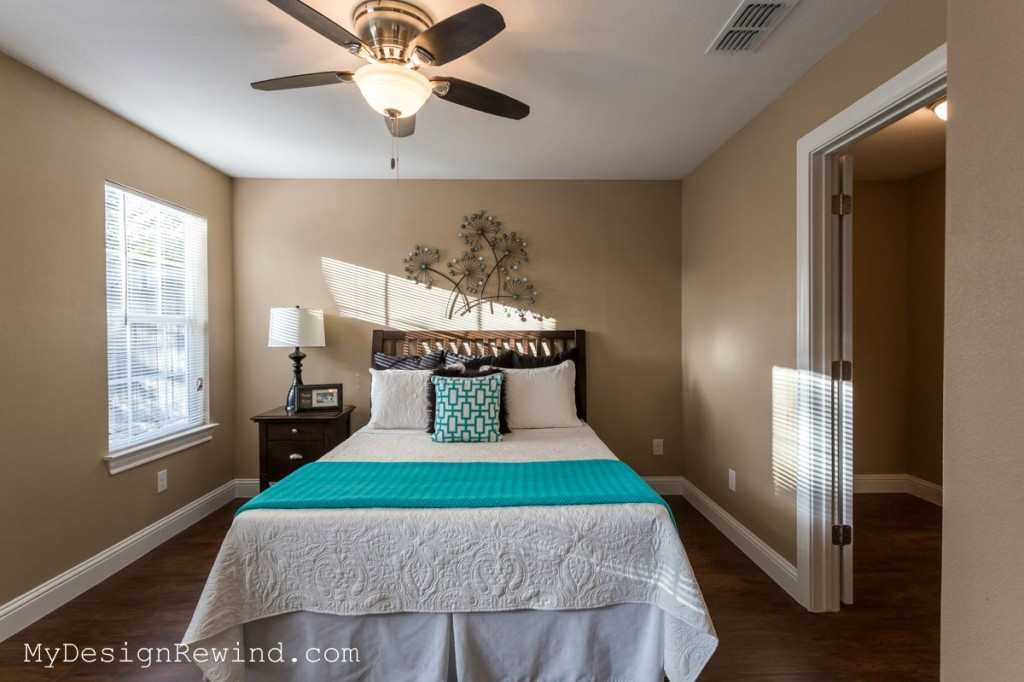 Vacant Bedroom after picture in Austin