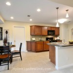 Beautiful kitchen after home staging